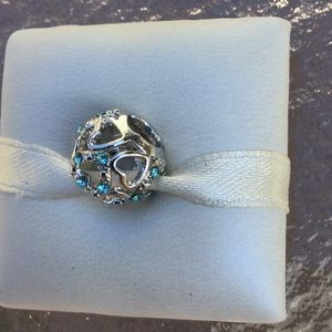Charms hearts with CZ silver works pandora